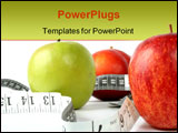 PowerPoint Template - apples with measuring tape