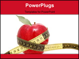 PowerPoint Template - a red apple and a tape measure