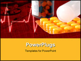 PowerPoint Template - Health protection elements - pills syringe/. Healthcare and being healthy.