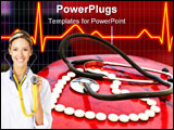PowerPoint Template - stethoscope and a lot of white pills