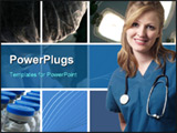 PowerPoint Template - A collage image of with a medical / healthcare concept