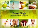 PowerPoint Template - beautiful healthy lifestyle theme collage made from nine photographs
