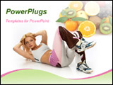 PowerPoint Template - attractive fitness woman.
