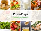 PowerPoint Template - healthy food collage made from nine photographs