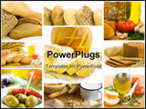 PowerPoint Template - beautiful healthy food collage
