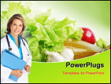 PowerPoint Template - Healthy diet chart