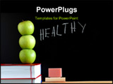 PowerPoint Template - apples books and chalkboard showing healthy lifestyle