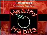 PowerPoint Template - healthy habits neon sign