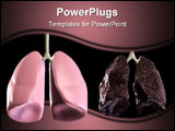 PowerPoint Template - 3d rendered illustration of a health and bad lung