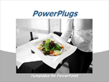 PowerPoint Template - Healthy salad served by woman on white plate in restaurant