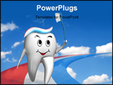 PowerPoint Template - Olympic tooth running on the toothpaste track