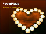 PowerPoint Template - candle heart
