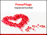 PowerPoint Template - a heart make by bids