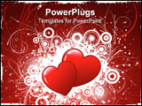 PowerPoint Template - Two hearts on a grunge style decorative background