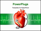 PowerPoint Template - Heart and stethoscope, bitmap copy