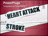 PowerPoint Template - Heart attack and stroke with chart concept- many uses in the insurance industry.