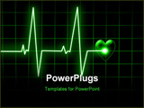 PowerPoint Template - Heart beat on monitor on a dark background