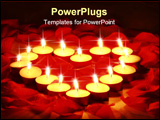 PowerPoint Template - Romantic valentines night with candles. Could be a sensual spa day
