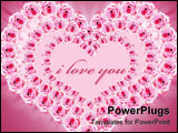 PowerPoint Template - ink roses in the shape of heart frame (2 clipping paths included Just roses and  Roses with outside