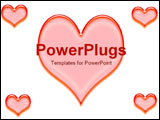PowerPoint Template - arrangement of hearts