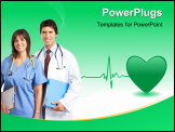 PowerPoint Template - Smiling medical people with stethoscopes