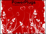 PowerPoint Template - Art work of hearts and flowers
