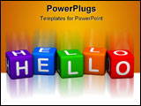PowerPoint Template - HELLO (from 3D colorful cubes buzzword series)