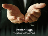 PowerPoint Template - a man gives his hands in asking for help