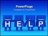 PowerPoint Template - 3D characters forming together the word help