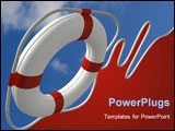 PowerPoint Template - Flying life preserver for first help