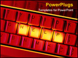 PowerPoint Template - business keybord with the words help