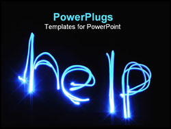 PowerPoint Template - help written by light.