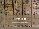 PowerPoint Template - image of Egyptian hieroglyphics