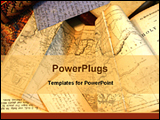 PowerPoint Template - ephemera old documents paper