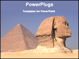 PowerPoint Template - pyramid and sphinx
