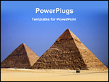 PowerPoint Template - view of a pyramid
