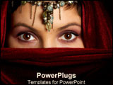 PowerPoint Template - A woman hides her beauty with fabric.