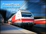 PowerPoint Template - Modern high speed train with motion blur