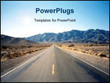 PowerPoint Template - Highway through the Nevada desert