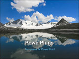 PowerPoint Template - The blue lake is located highly in mountains