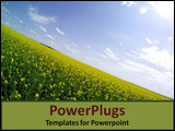 PowerPoint Template - A sloping hillside covered in flowers