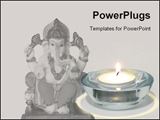 PowerPoint Template - Statue of Ganesh with candle