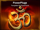 PowerPoint Template - an illustration of the golden sacred syllable Aum