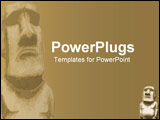 PowerPoint Template - Ancient religious stone temple type figure