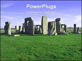 PowerPoint Template - Image of Stonehenge in the UK on sunny day.