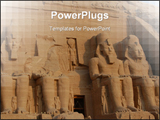 PowerPoint Template - Abu Simbel colossus, Egypt, Africa