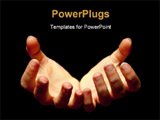 PowerPoint Template - Female hands holding only darkness and emptiness