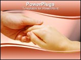 PowerPoint Template - couples holding hands on a peach background