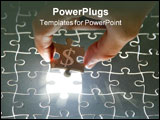 PowerPoint Template - holding a puzzle piece