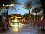 PowerPoint Template - Evening restaurant in hotel in the tropic